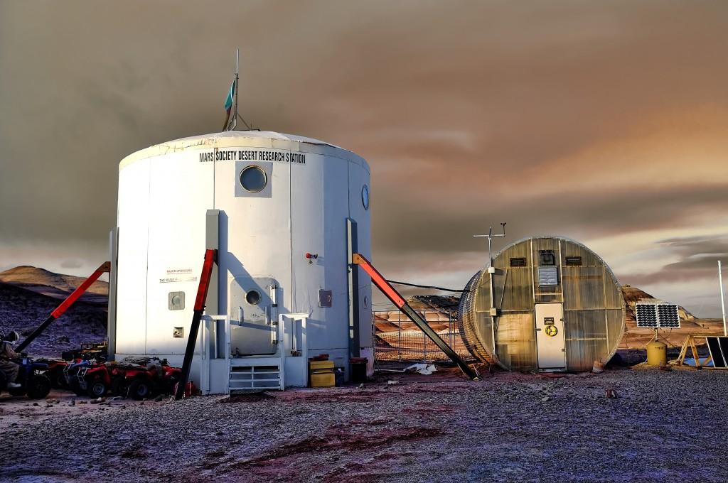 Obr.1: Marťanská púštna výskumná stanica (MDRS) v americkom Utahu
